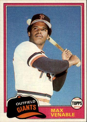 Max Venable baseball card